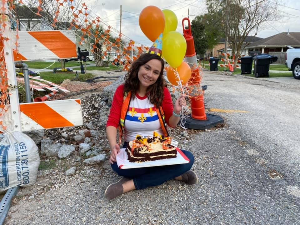 Woman Throws Birthday Party for Celebrating One Year Of Road Work In Front of Her House