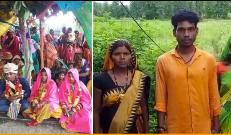 Man In India Marries Both His Girlfriend and Bride Chosen By Parents At Same Ceremony