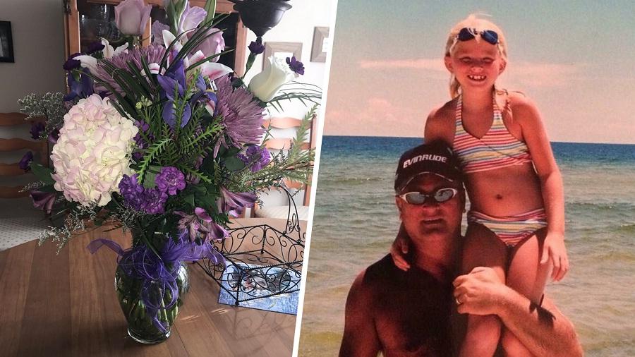 daughter bouquet flowers birthday