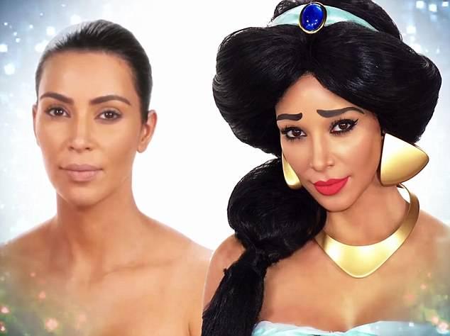 Kim Kardashian transformed as Princess Jasmine to fool Daughter North