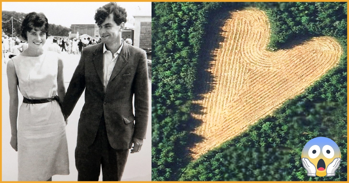 Aerial View Of Heart-Shaped Meadow Created By Husband As A Tribute To Late Wife