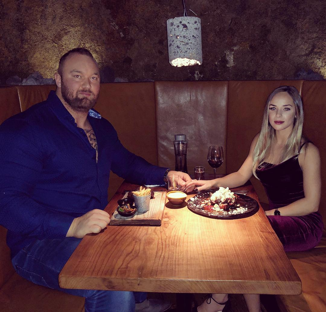 pictures of the mountain from got and his tiny girlfriend are storming the internet
