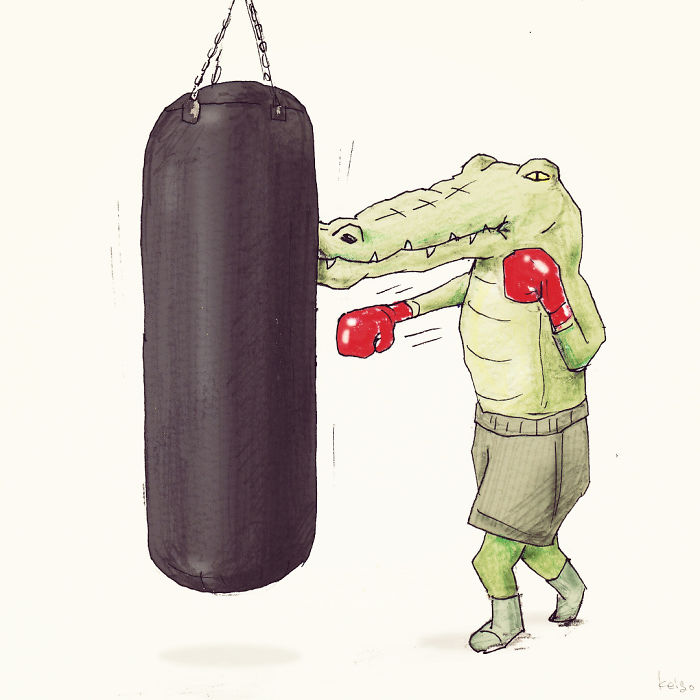 40 Everyday Problems Of Crocodiles Illustrated By Japanese Artist