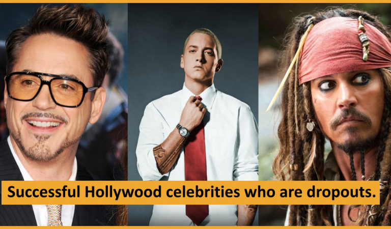 Hollywood Celebrities Who Are School Dropouts But Still Got Successful.