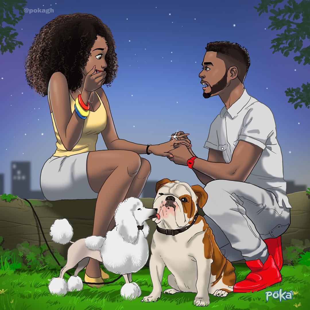 Beautiful Illustration of a proposal