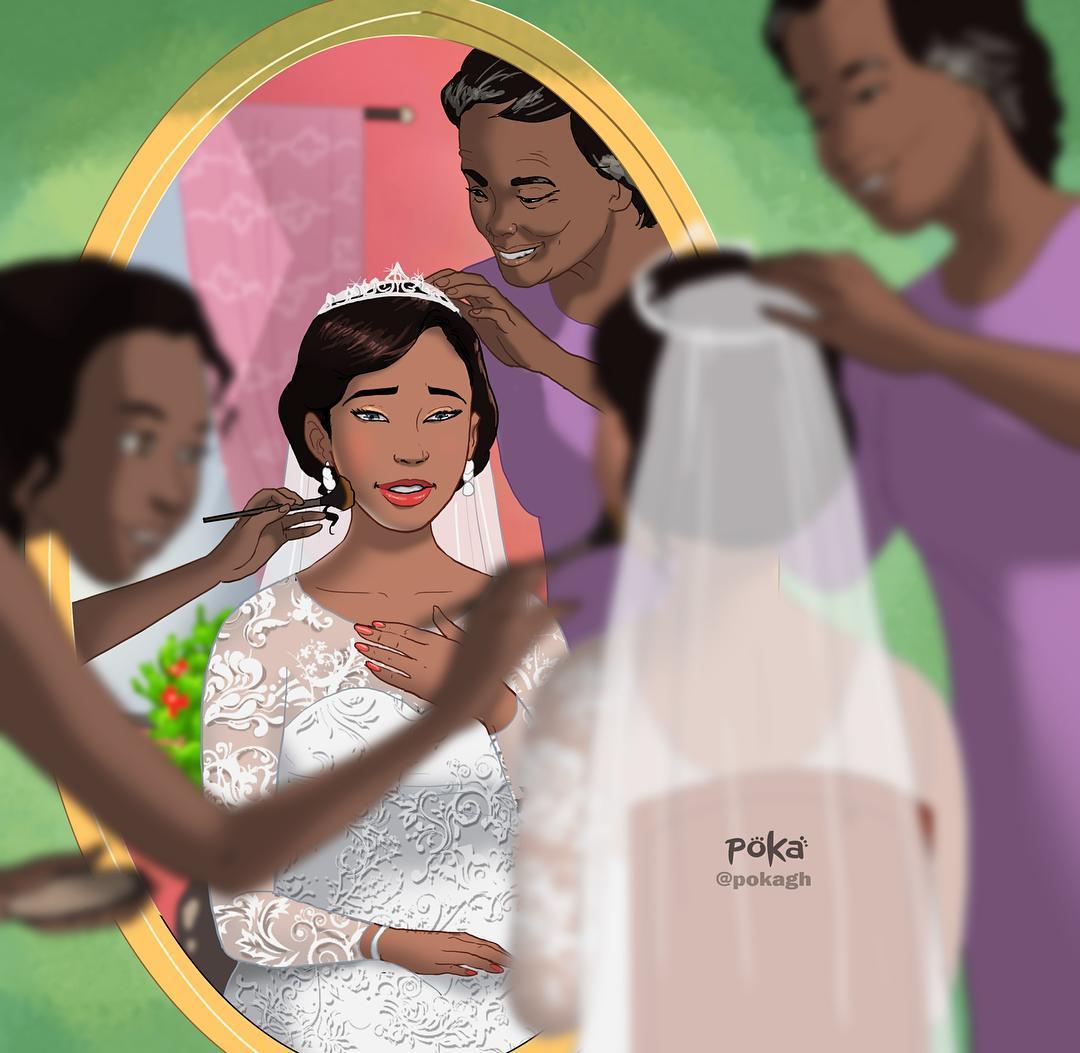 Beautiful Illustration of wedding