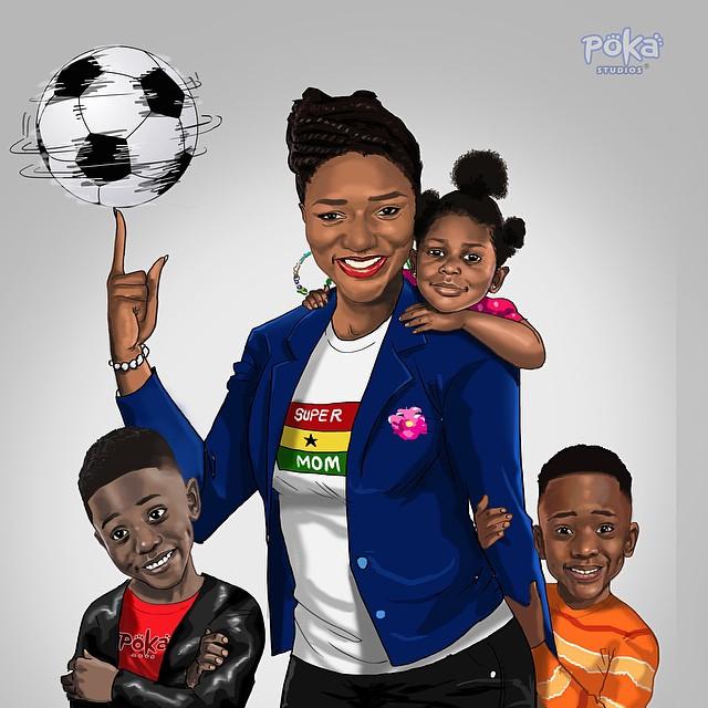 Beautiful Illustration of mom