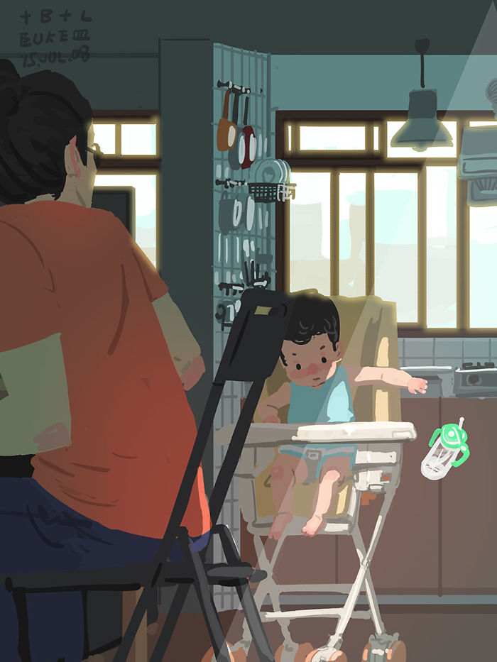 Single Dad Illustrates What It's Like To Raise A Child, And It's Heart Melting