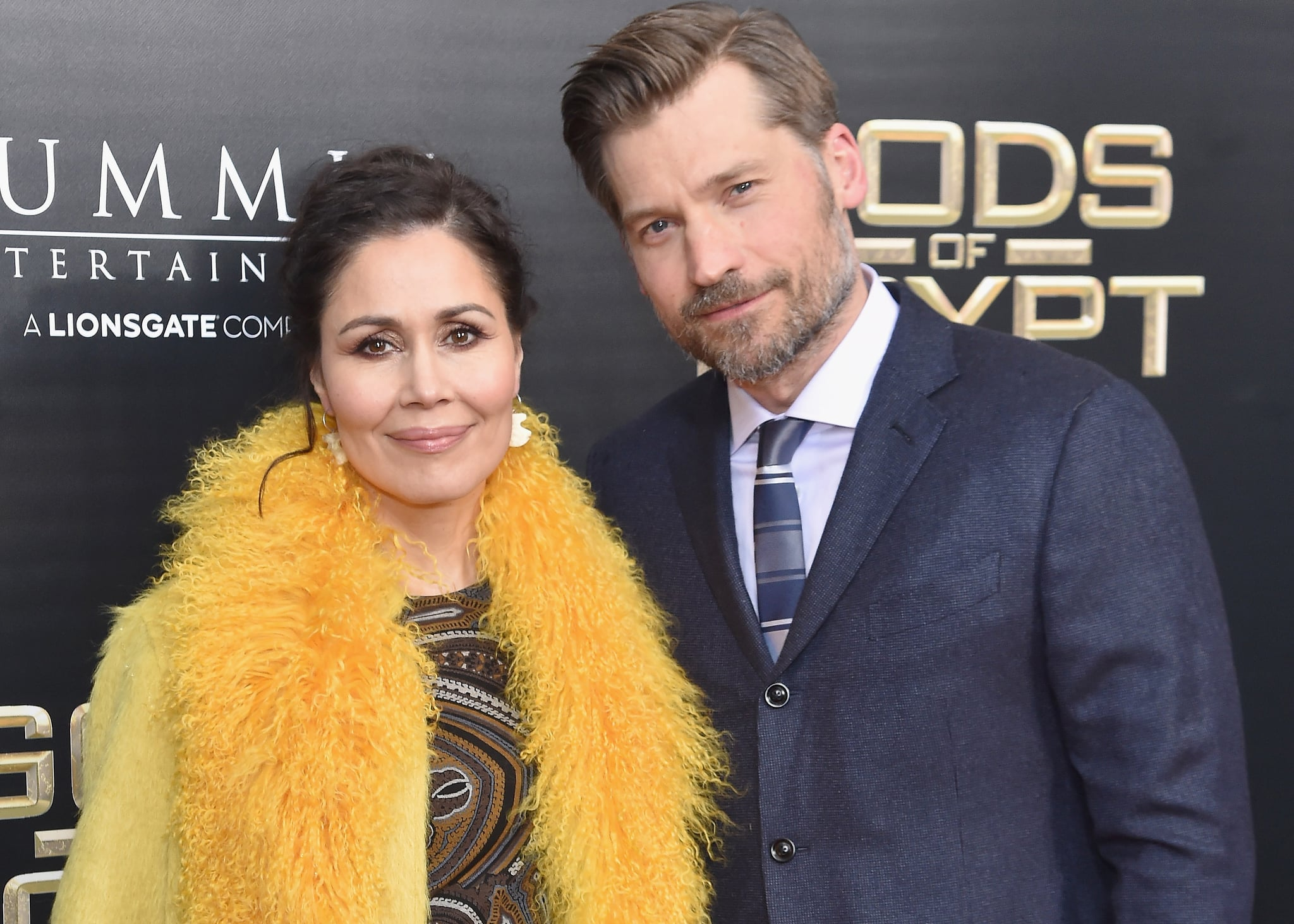 Nikolaj Coster Waldau and his wife attending an event show