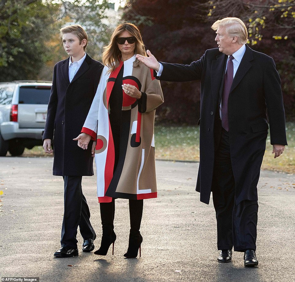 The Youngest Son Of Donald Trump, Barron Seen For The First Time In Public Since August