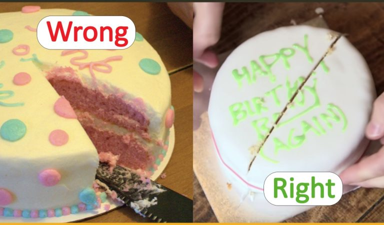 The Scientific And Right Way To Cut A Round Shaped Cake