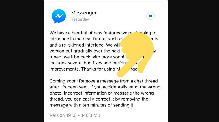 Introducing A Latest Feature Of Facebook That Will Allow You To Unsend A Message