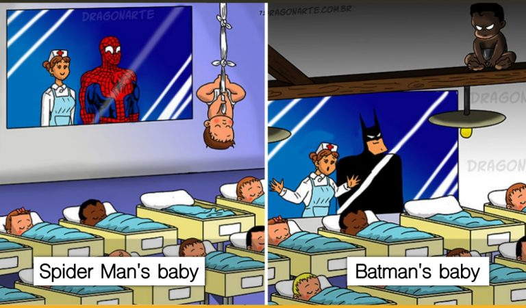 10+ Illustrations That Show What Would Happen If Superheroes Had Babies