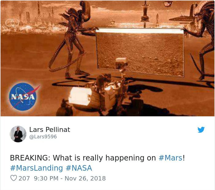 Funny Reactions To NASA's InSight's First Photos From Mars