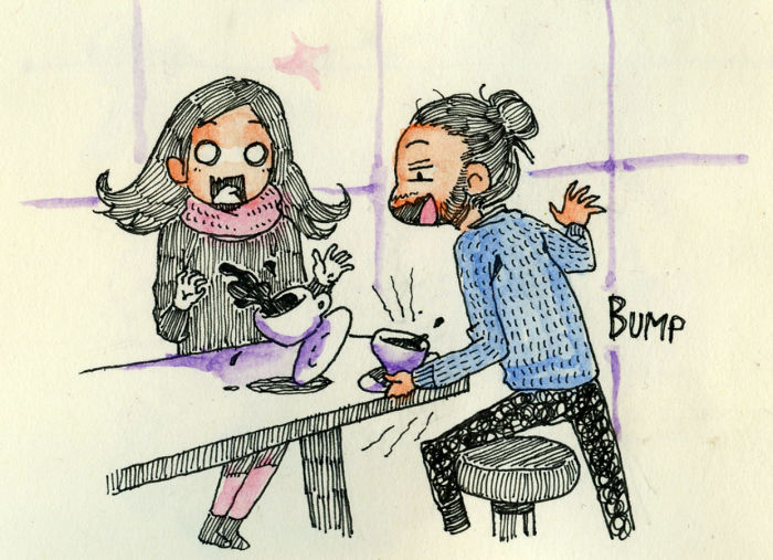 An Artist Went To Meet His Girlfriend And Depicted Every Moment Of It In Illustrations