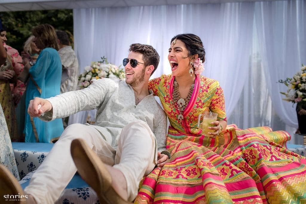 See The Adorable Pictures Of Priyanka Chopra And Nick Jonas At Their Mehendi Ceremony