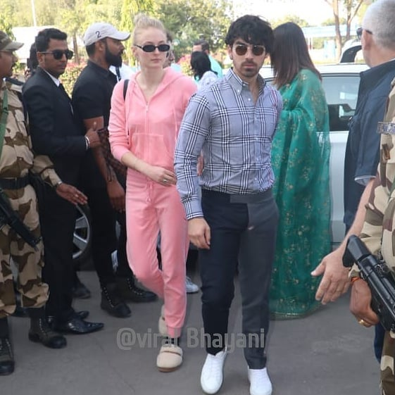 First Pictures Of Newly-married Couple Priyanka Chopra And Nick Jonas At Jodhpur Airport