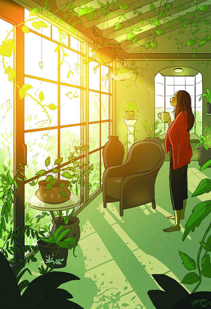 30+ Illustrations That Perfectly Capture The Happiness Of Living Alone