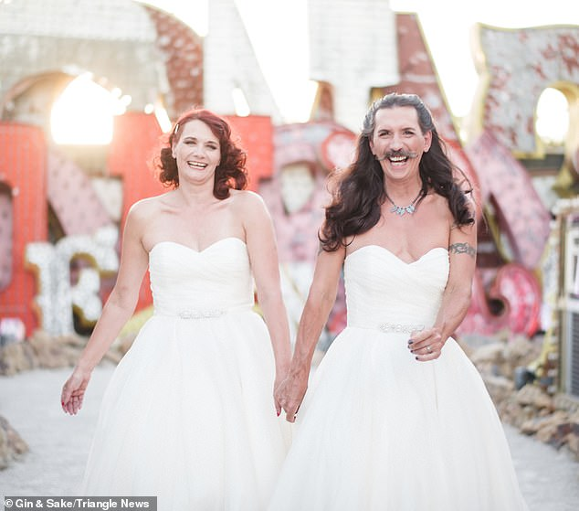 UK Based Couple Got Married In A Unique Style, Groom Wore A White Gown For His Wedding