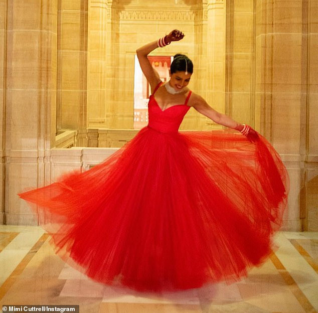 The Red Dior Dress That Priyanka Chopra Wore During Her Second Wedding Reception Is So Mesmerizing