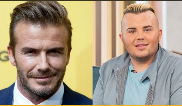 A 22-Year-Old Guy Spent $45k to Look Alike David Beckham And Is Broke Now