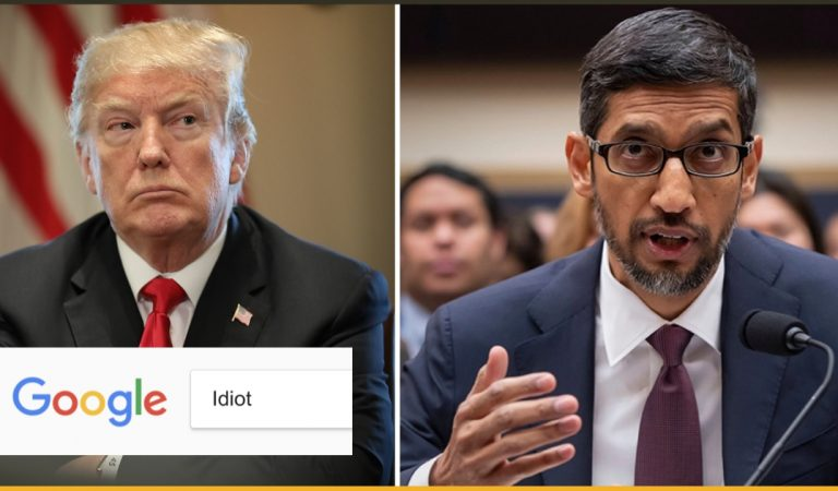 Google's CEO Explains to US Why Searching for 'Idiot' Shows Donald Trump