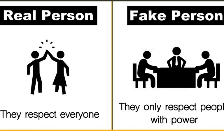 9 Ways To Distinguish A Real Person And A Fake Person