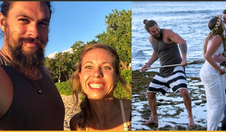 Aquaman Superstar Jason Momoa Crashed a Random Couple's wedding in Hawai With His Trident!