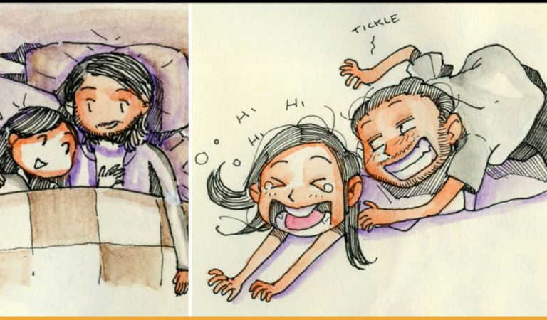 Artist Went To Meet His Girlfriend With Illustrations Depicting Their Love