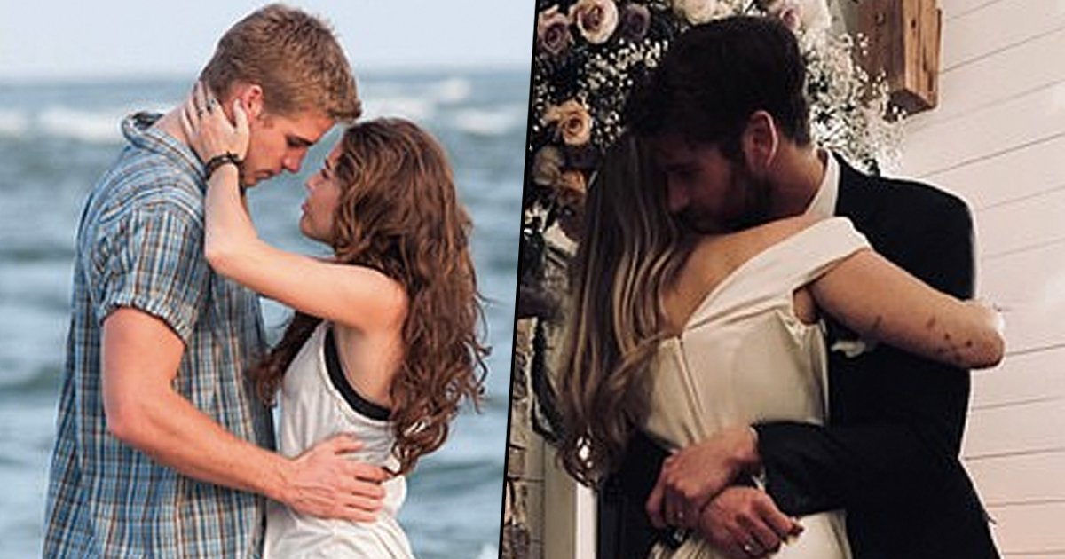 Fan Theories Suggests The Wedding Pictures Of Miley and Liam Resemble From The Scenes Of 'The Last Song'