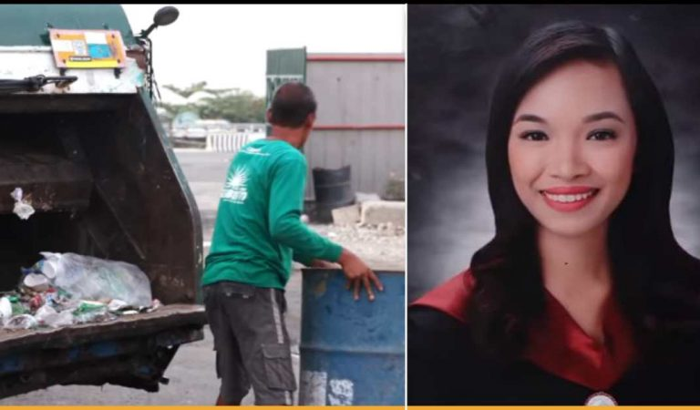 Filipino Garbage Picker Supports His Daughter To Achieve College Degree