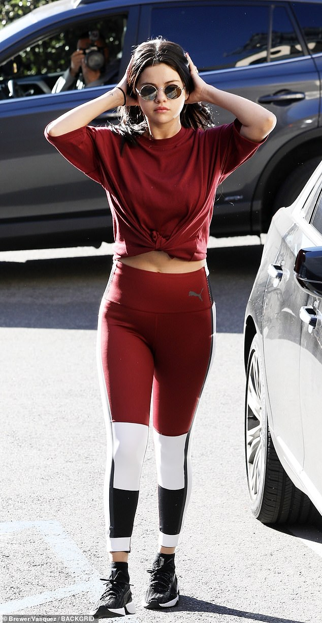 Selena Gomez Looking Red Hot In Her Tracking Suit After Another Pilates Session
