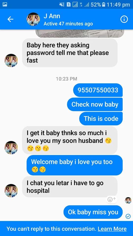 Filipina Woman Blocked Pakistani Lover Immediately after Receiving Money