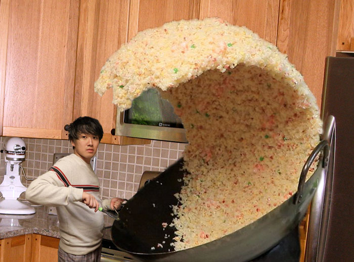 Giant Rice Wave Turned Into Funny Photoshop Battle
