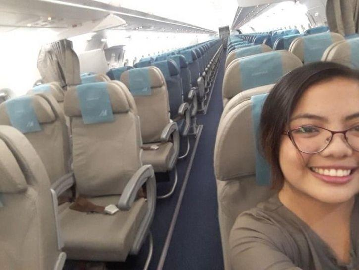 Woman from the Philippines took a Private flight but not in Private Plane