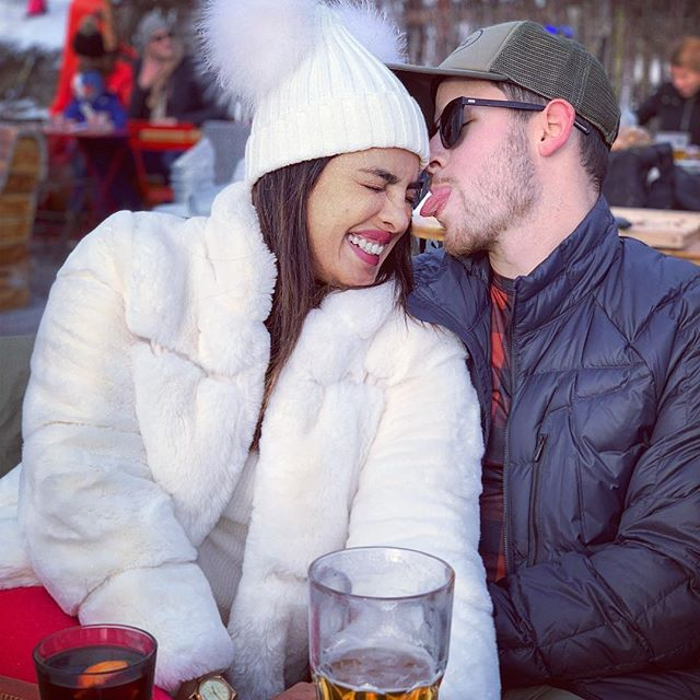 Take A Look At How Priyanka Chopra and Nick Jonas Welcome New Year With A Kiss In Switzerland