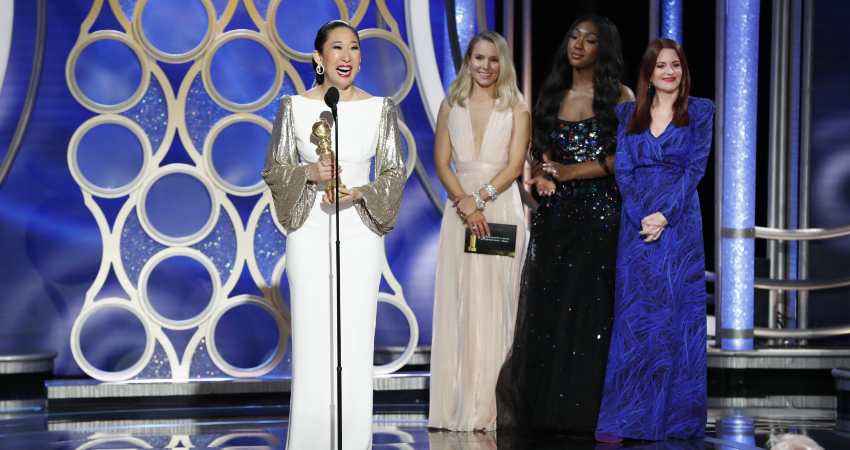 Golden Globes Winner Sandra Oh Thanks Her Parents in Korean