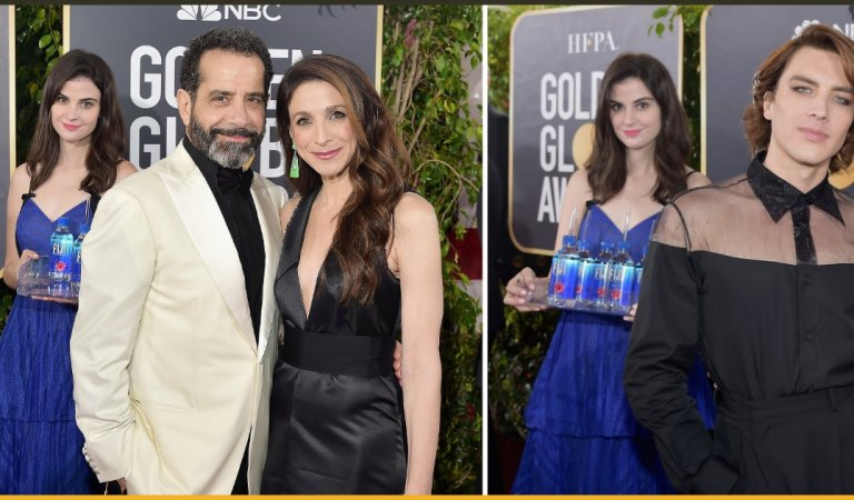 'Fiji Water Girl' Becomes Famous For Photo-bombing Countless Red Carpet Pictures At Golden Globes