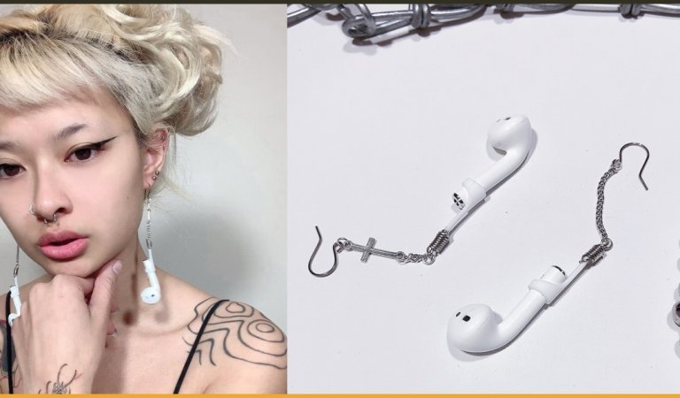 22-Year-Old Woman Turned Her Apple AirPods Into Earrings