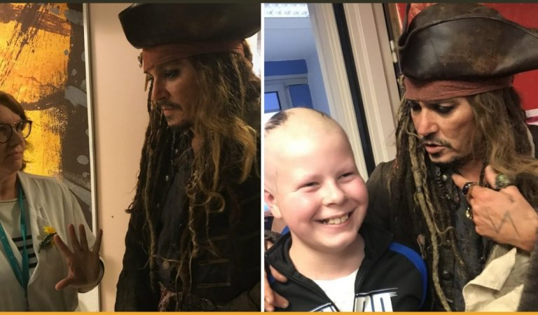 Johnny Depp Won Hearts By Visiting Children's Hospital As Captain Jack Sparrow