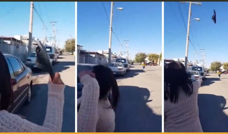 Angry Mother Strikes Her Teen Daughter With Flip-Flop From Incredibly Long Distance To Stop Her