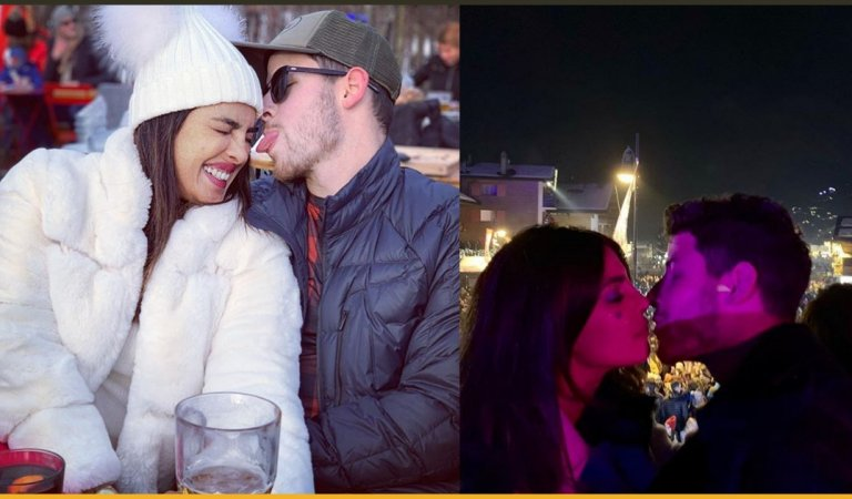 This Is How Priyanka Chopra and Nick Jonas Welcome New Year With A Kiss In Switzerland