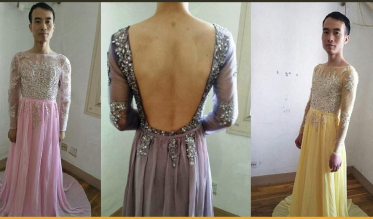 Buyer Asks For Real Pictures Of Dress, So Online Seller Sends Pictures Of Himself Wearing Them