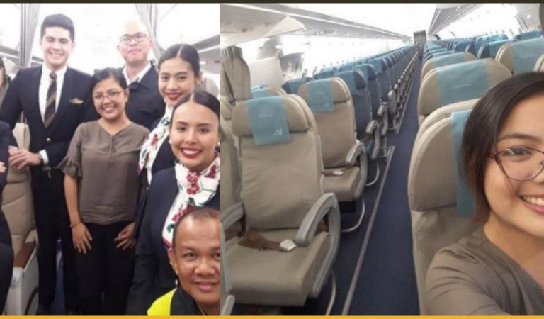 This Woman From The Philippines Took A Private Flight But Not In Private Plane!