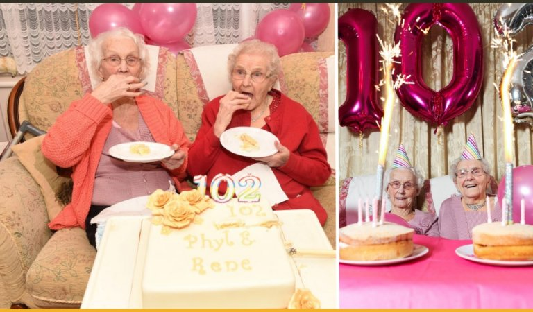 Britain's Oldest Twin Celebrate Their 102nd Birthday Together