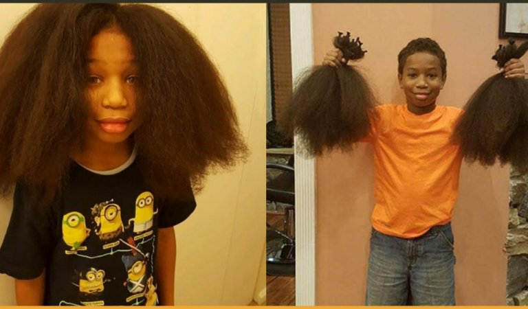 8-Year-Old Kid Spent 2 Years Growing His Hair To Make Wigs For Kids With Cancer