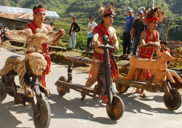 Tribesmen From The Philippines Ride Handcrafted Wooden Bikes