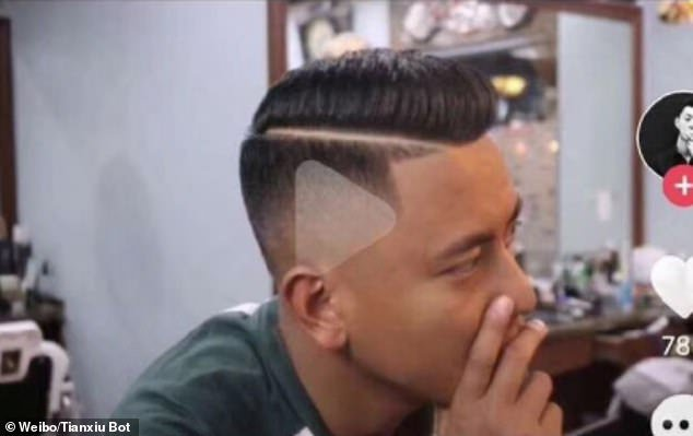 Barber Cuts A Triangle Into Guy's Hair After He Confused It With The Triangular Play Button In The Video
