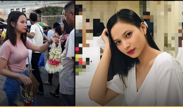 Girl Selling Sampaguita Garlands In Filipino Market Became Viral For Her Gorgeous Looks
