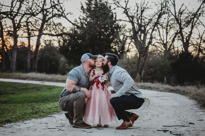 Photoshoot Of A Dad And A Stepdad With Their Daughter Goes Viral